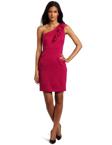Trina Turk Womens Sheila Dress, Hot Pink, 4