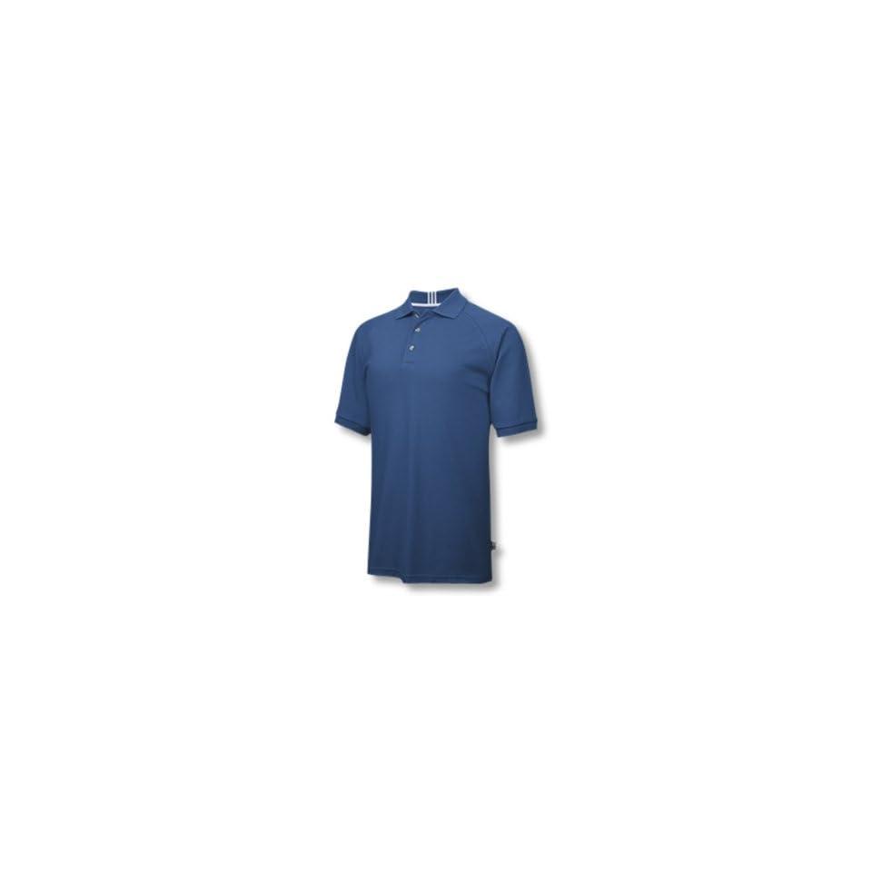 Adidas 2007 Mens ClimaLite Stretch Pique Polo Shirt   Royal / White   123660