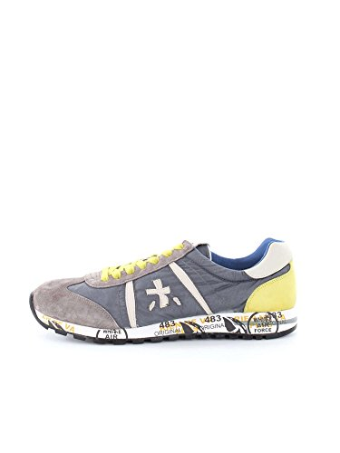 WHITE PREMIATA LUCY 1299 GREY YELLOW SNEAKERS Uomo GREY YELLOW 43