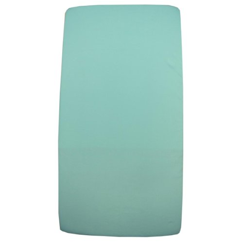 1 Fitted Cotton Cradle Mattress Sheet - Aqua 18