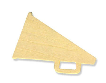 Darice 3 by 2 Inch, Unfinished Wood Megaphone Cutout