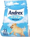 THREE PACKS of Andrex On The Go Toilet Tissue Roll
