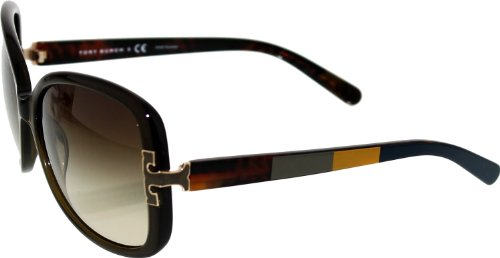 Image of Tory Burch Sunglasses - TY7022 / Frame: Olive Block Lens: Brown Gradient