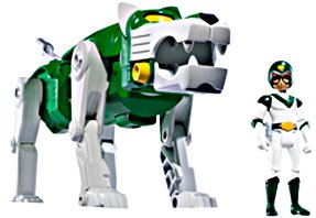 Mattel Voltron Exclusive Action Figure GREEN LION PIDGE Packaged Together in White Collector Box!