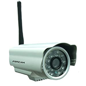 Foscam WIDE ANGLE FI8903W Network Wireless IP Camera with IR CUT, upgraded Version. Outdoor - Silver