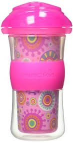 Munchkin Click Lock Insulated Big Kid Cup - 9 oz, Pink