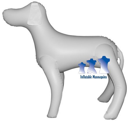 Inflatable Mannequin, Large Dog, White