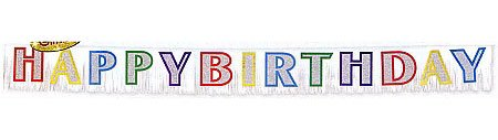 Amscan Large Glitter Happy Birthday Banner