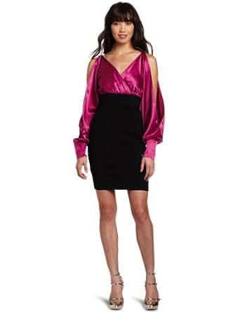 XOXO Juniors V-neck Surplus Twofer Dress, Black, 0/0