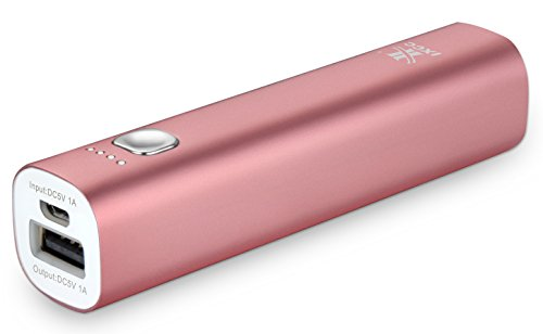 iXCC 3400mAH Power Bank - Mini Portable External Battery Charger for Apple iPhone, iPod, Samsung, HTC One, Fire Phone, Google Nexus and More - Pink