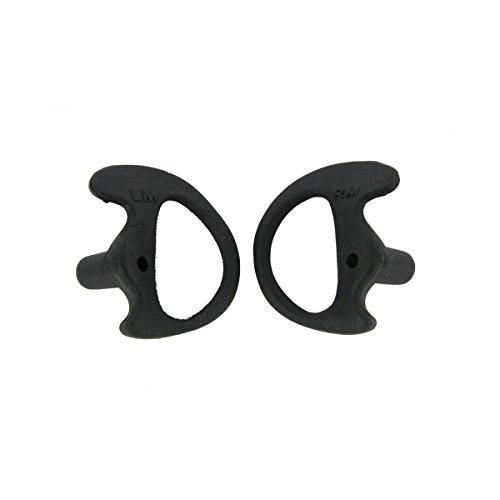 Valley Enterprises Black Replacement Medium Earmold Earbud One Pair for Two-Way Radio Audio