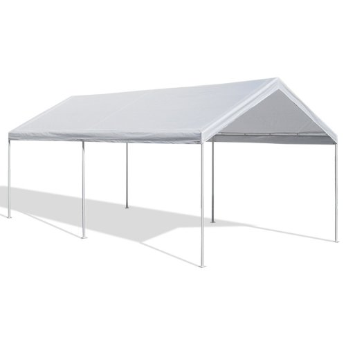 Caravan Canopy 10 by 20 Domain Carport, White