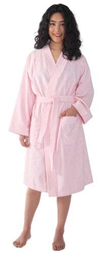 Arus Women's Archee Style Turkish Cotton Short Kimono Bathrobe