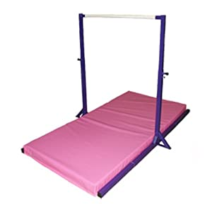 The Beam Store Gymnastics Mini High Bar with Thick Mat (4-Inch)
