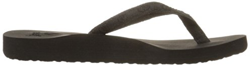 Reef Women's Ginger Flip Flop,Black/Black,9 M US