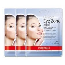 PUREDERM Collagen Eye Zone Mask Pad Patches - Wrinkle Care, Dark Circles Whitening (3 Pack (90 Sheet))
