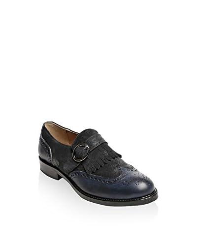 British Passport Zapatos Monkstrap Wing Cap