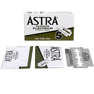 1000 ASTRA Superior Platinum Double Edge Safety Razor Blades. Manufactured by P & G Gillette. Select Quantity via Dropdown menu below!