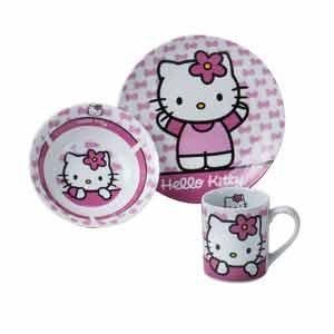 Kinder-Porzellanset 3tlg. HELLO KITTY