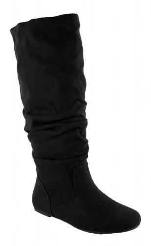 black boots without heels no heels