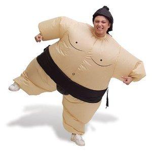Sumo Wrestler Inflatable Fancy Dress Costume
