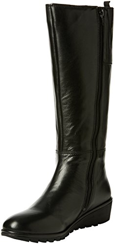 LotusAlona - Stivali donna , Nero (Black (Blk Leather)), 42