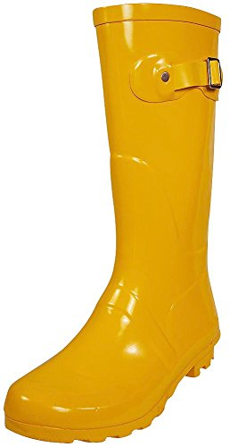NORTY - Womens Hurricane Wellie Solid Gloss Mid-Calf Rain Boot, Yellow 38739-11B(M)US (Rain Boots Women Size 11 compare prices)