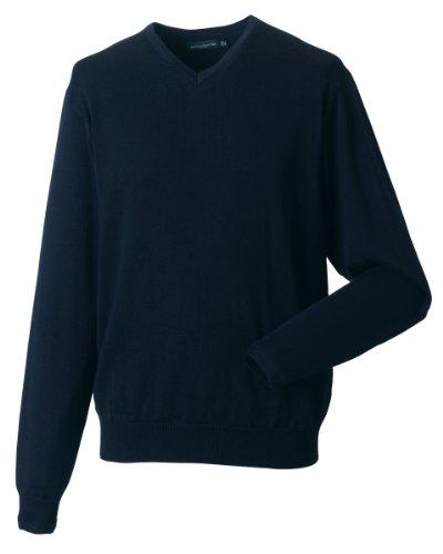 Da uomo Workwear Corporate Wear a maglia scollo a V Pullover Set in Sleeve Marina francese small