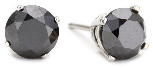 2 cttw Black Diamond Stud Earrings 14k Gold