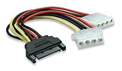 CNCT SATA REVERSE POWER ' Y ' CABLE 0.15M - 1xSATA Plug to 2x LP4 'MOLEX' Power Receptacle Y Cable Adapter - Splitter cable - To power two LP4 / PATA HDD and peripherals from WD - Seagate - Toshiba - Hitachi - Lacie from a single SATA Power connection on the computer power supply
