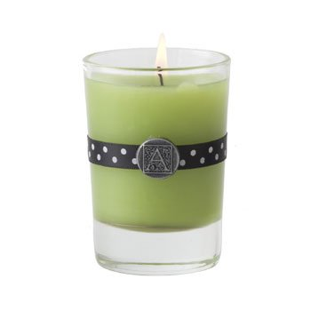 Lime Twist Scented Votive Candle in Glass by Aromatique (12-Pack)