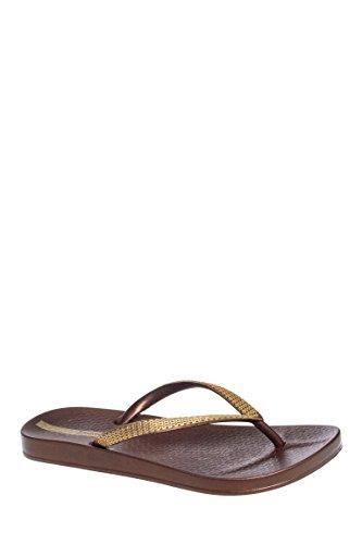Ana Metallic Casual Flip Flop Sandal