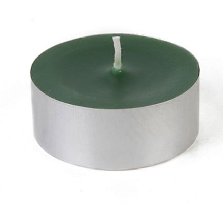 Zest Candle 12-Piece Tin Cups Tealight Candles, Mega Oversized Hunter Green S
