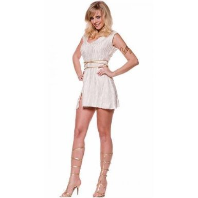 Great Toga Greek Goddess Pleated Minidress Costume