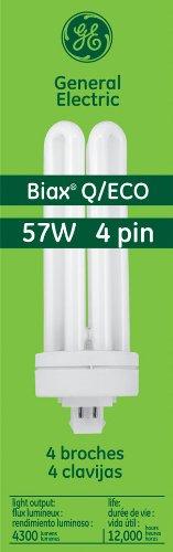 GE Lighting Energy Smart CFL 48864 57-Watt, 4300-Lumen Quad Biax Light Bulb with Gx24-Q5 Base, 10-Pack (Ge 57w Bulb compare prices)
