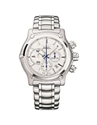 Ebel Men's 9137L70/6360 1911 BTR Silver Chronograph Dial Watch