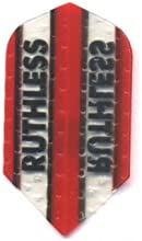 Ruthless - 4350 - Red W Clear Panel - 3 Sets of 3 - Double Thick Dimpled Slim Shaped Dart Flights