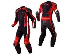 コミネ:S-41 スポーツライディングメッシュスーツ(ブラック/レッド)(サイズ:L)