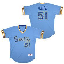 Seattle Mariners Authentic 1978 Turn Back the Clock Ichiro Suzuki Road Jersey by Majestic
