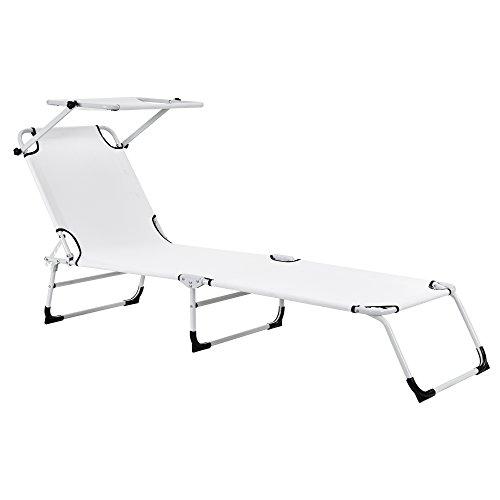casapro-Sonnenliege-klappbar-mit-Dach-wei-190cm-Liege-aus-Aluminium-Verwendung-als-Relaxliege-Strandliege-Gartenliege
