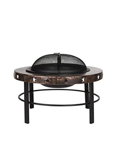 Safavieh Cuba Fire Pit, Copper/Antique Black