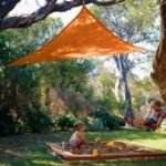 11'10 Triangle Shade Sail: Terracota Orange