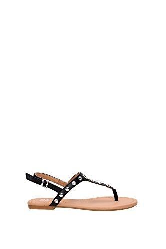 Sandali Armani Jeans Donna Pelle Nero e Argento C55471712 Nero 37EU