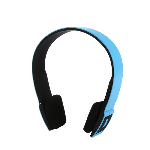 Bluetooth Stereo Headset With Microphone-In For Iphone 4/4S /Ipad 2 3 /Ps3 - Support Two Device At The Same Time (Blue)
