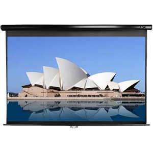 Elite Screens Manual Series, 135-inch Diagonal 16:9, Manual Pull Down Projection Screen with Auto Lock, Model: M135XWH2