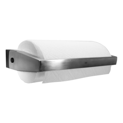 new nice decor wall mount stainless steel pull thru paper towel holder kitchen ebay. Black Bedroom Furniture Sets. Home Design Ideas