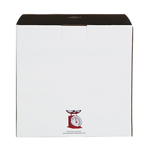 Premier Housewares 0807081 Balance de Cuisine Acier Inoxydable Rouge 5 kg