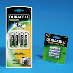 DURCEF90NC NiMH Battery Charger System for AA or AAA NiMH Batteries, 30 Minute Charge