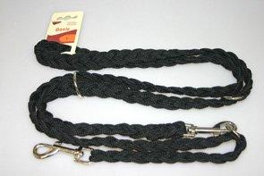 Führleine geflochten Nylon schwarz 20mm