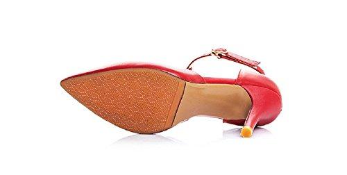 Womens Vintage Pumps Pointed Toe T-Strap Stiletto Heel Party Dress Pumps 3